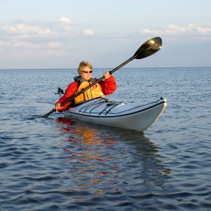 Picture of woman sea Kayaking on Lake Superior