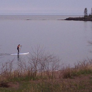 Stand Up Paddling on Lake Superior