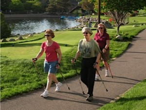 Picture of Linda Lemke nordic walking