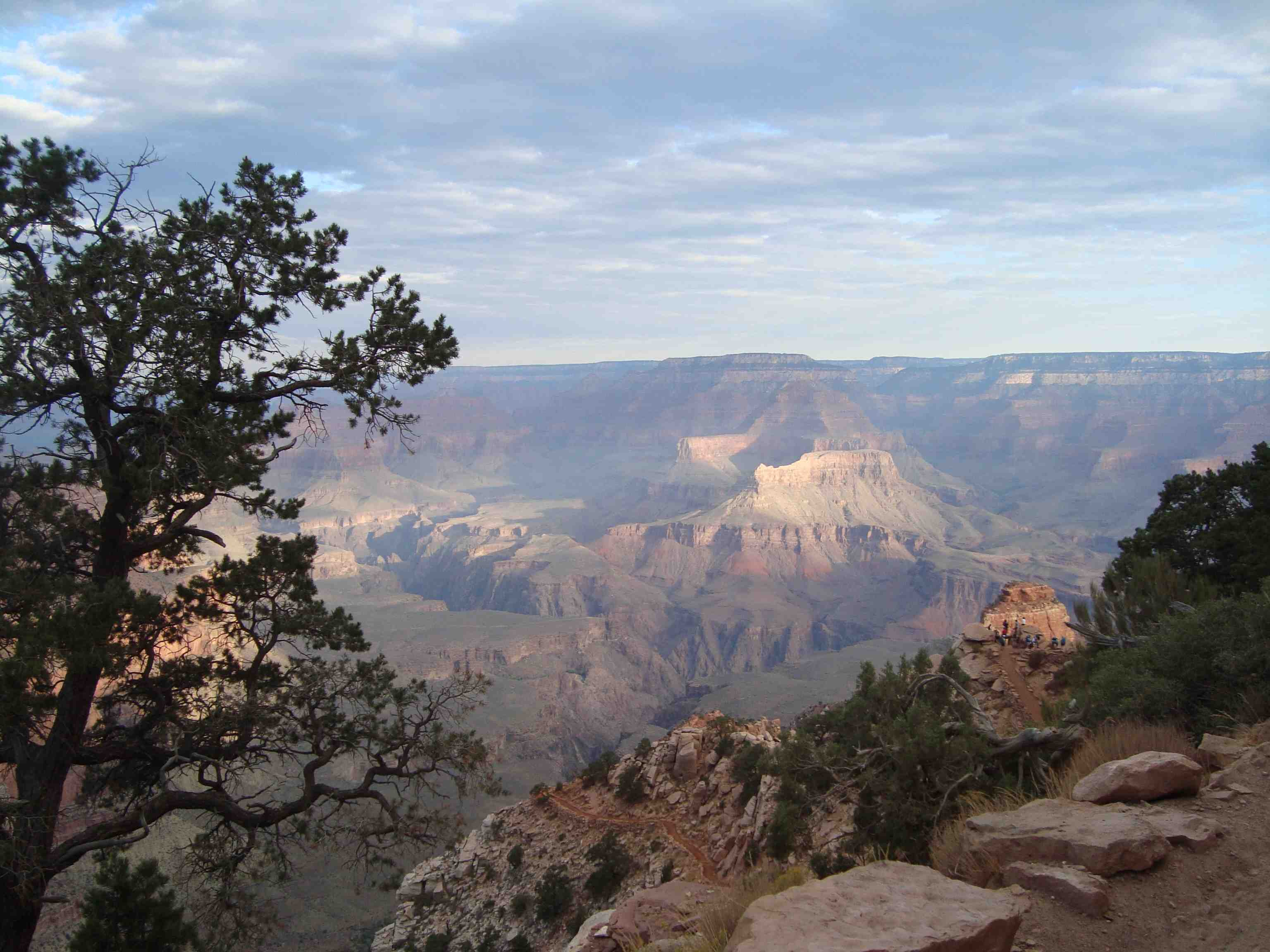 A picture taken looking across the Grand Canyon