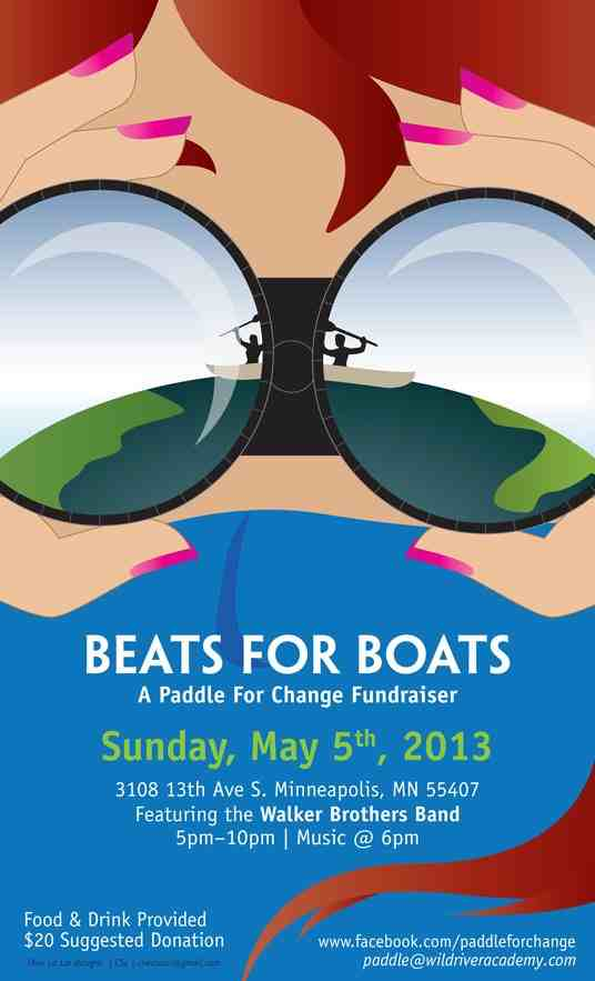 Poster for Beats for Boats fundraiser