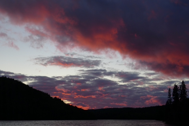 Crimson Sunset on Lake McFarland