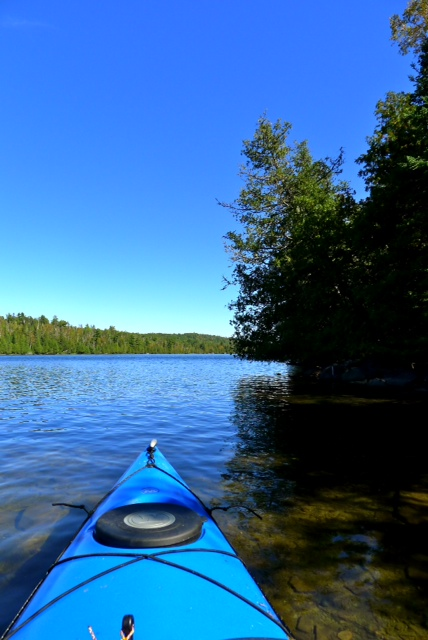 Bow of Kayak on Lake McFarland