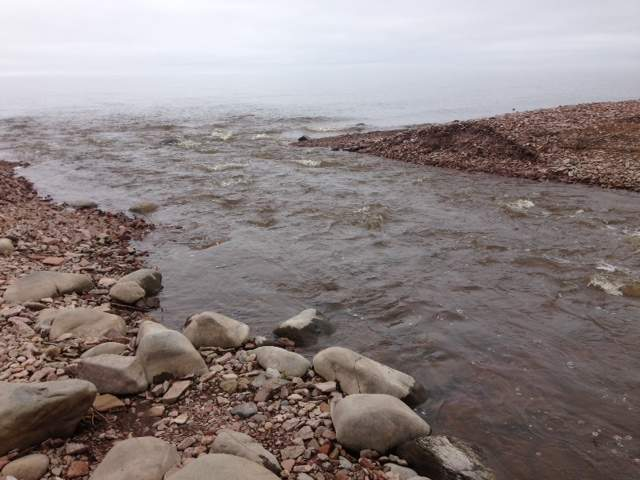 Picture of Kadunce River at mouth of Lake Superior