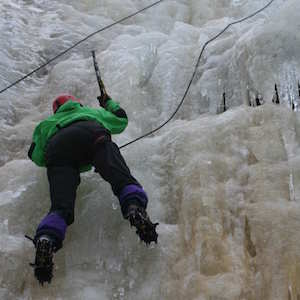 Picture of an ice climber
