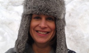 Picture of Annette wearing a furry winter hat