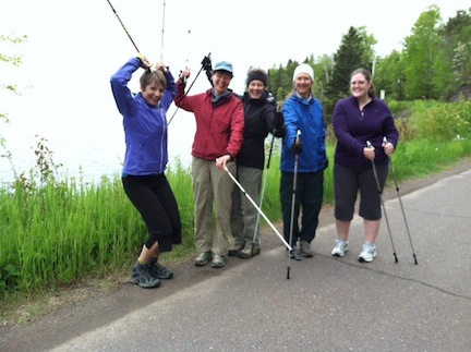 Nordic Walking With The Queen In Grand Marais