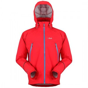 Picture of a red Rab Maverick jacket