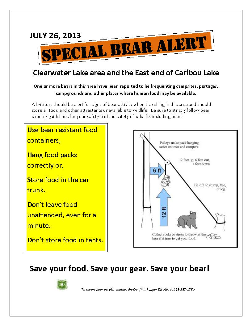 Clear Water Caribou Bear Alert