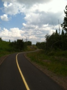 Picture of the newly constructed section of the Gitchi-Gami State Trail