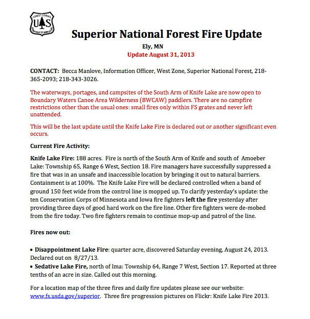 SNF-Fire-Update-8-31-13
