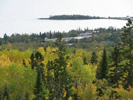 Fall Leaves Grand Marais From Pincushion Mtn