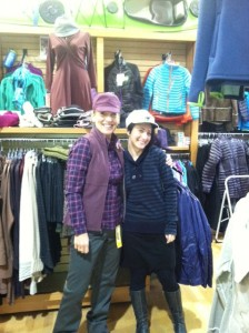 Picture of Linda and Shelby modeling the latest outdoor and casual clothing