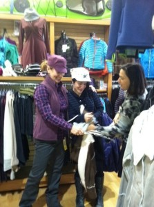 picture of two Stone Harbor customers being helped by Annette