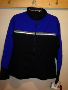 Picture of a blue and black Wintergreen Northern Wear full-zip jacket