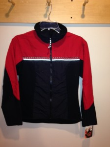 Picture of a Wintergreen Northern Wear red and black full zip jacket