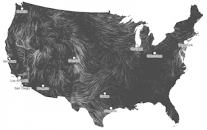 Image of a wind map