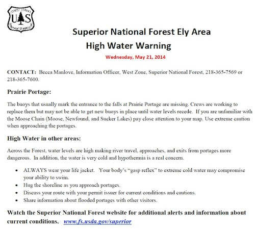 High Water Warning 05 21 14