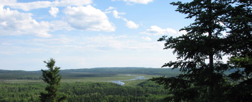 Picture of the view from the 270 Outlook at the end of the Superior Hiking Trail