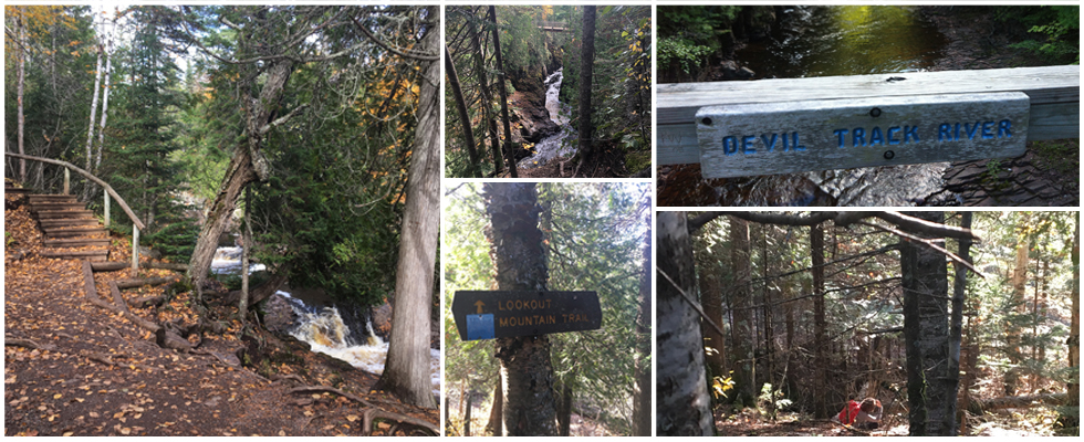 Collage of pictures from the Superior Hiking Trail