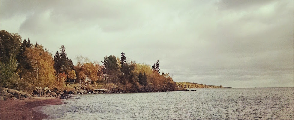Picture of the East Bay of Grand Marais on a fall day
