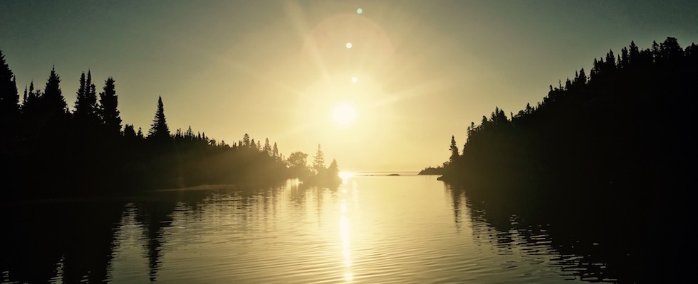 Picture of sunrise on Isle Royale