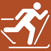 Icon for cross-country skiing