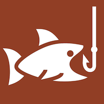 Icon image of fish about to bite into a hook