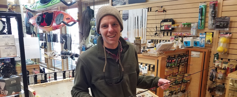 Picture of Jake holding a Tenkara fly rod