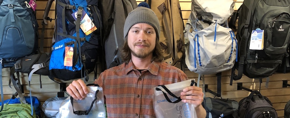 Picture of Mike holding GravityWorks water filter by Platypus