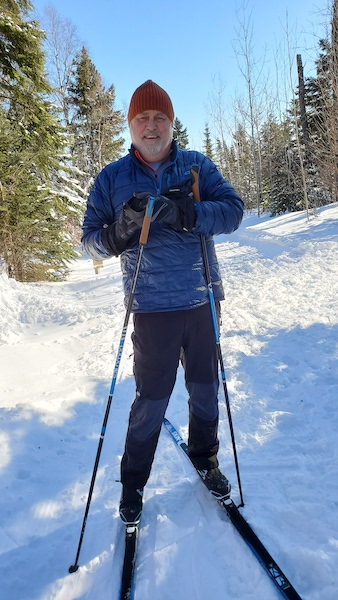 Picture of Jack cross-country skiing in Grand Marais MN
