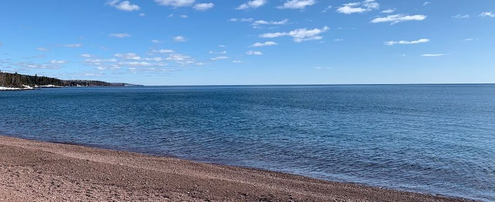 Another view of Lake Superior on that same February day.