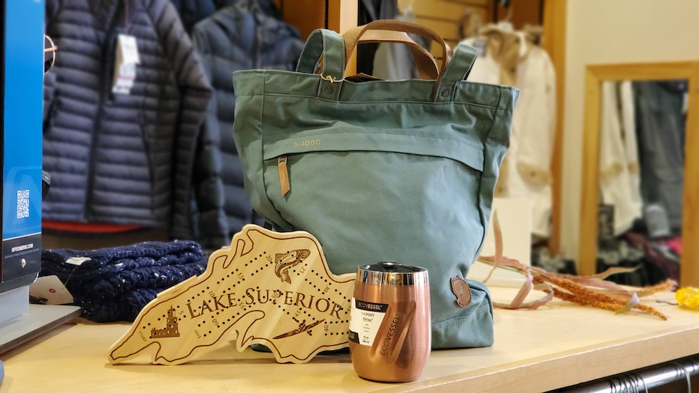 Picture of a Lake Superior cribbage board and other gifts at Stone Harbor Wilderness Supply