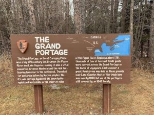 Picture of Grand Portage sign